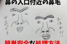 入口 鼻毛 処理方法