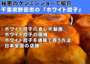 秘密のケンミンショー-千葉県野田市-ホワイト餃子